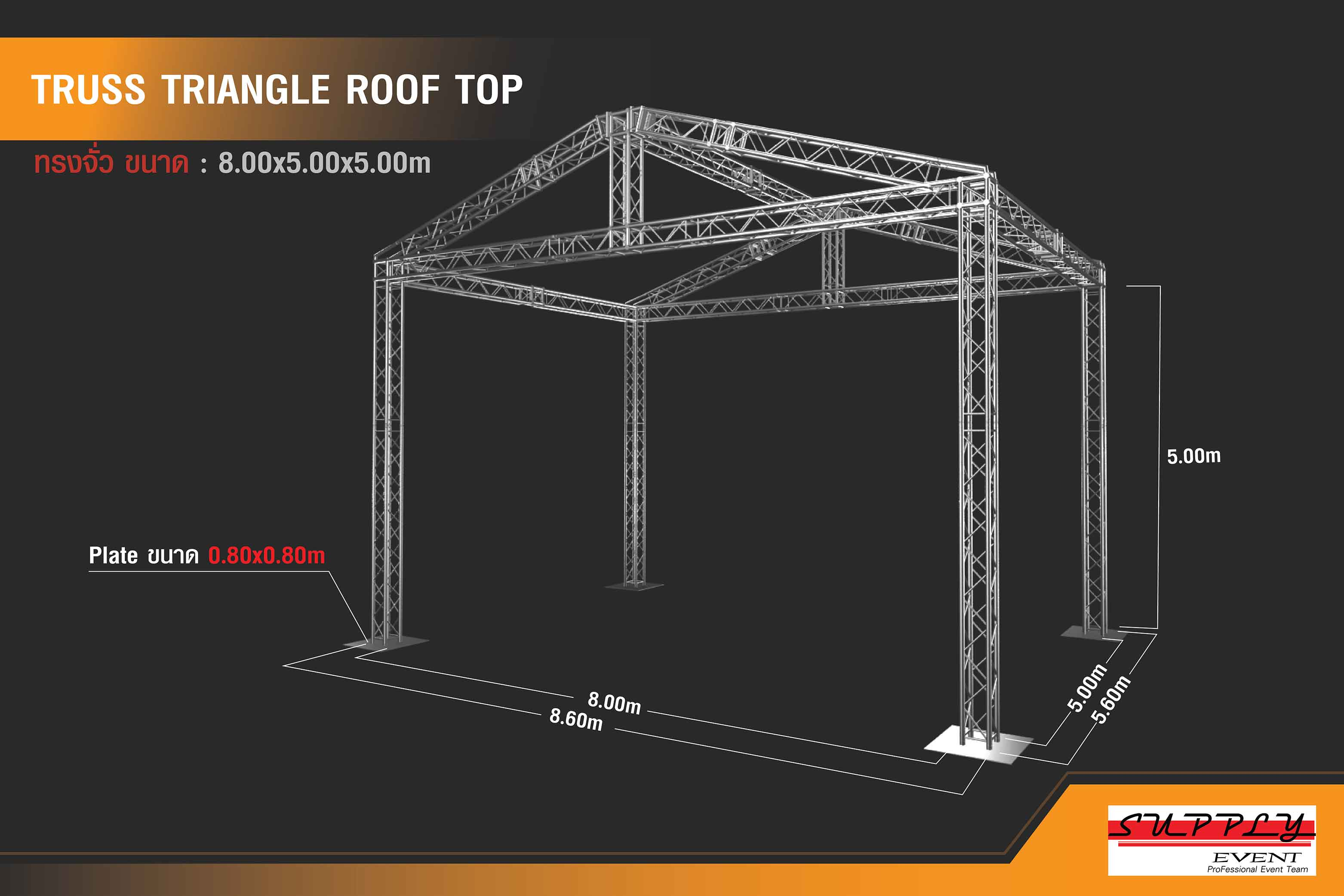 Truss triangle roof top